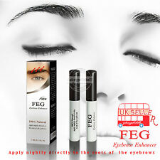 FEG Original 3ml Eyebrows Eyebrow Enhancer Brush Rapid Growth Serum Liquid UK