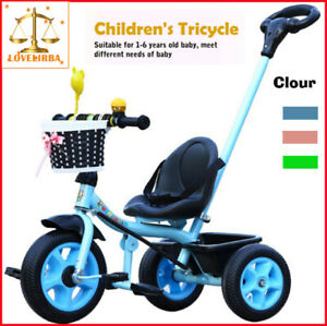 Children's Trolley Tricycle Baby Stroller 1-3/2-6 Kids Light Bicycle KTR2084