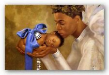 Heaven Sent (Boy) Henry Battle African American Art Print 10x8