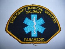 CANADA CALGARY EMERGENCY MEDICAL SERVICES PARAMEDIC CLOTH PATCH