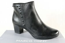 Marco Tozzi Ankle Boots Black Leather 25388 New