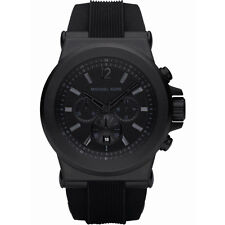 99705760cb60b New Michael Kors Dylan Black Silicone Chronograph MK8152 Wrist Watch for Men