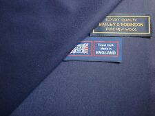 "100% PURE NEW WOOL ""very light milled"" SUITING FABRIC MADE IN ENGLAND – 3.4 m."
