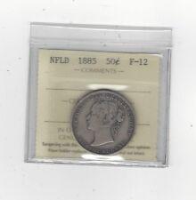 **1885**, ICCS Graded Newfoundland, Fifty Cent, **F-12**