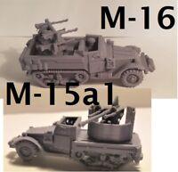 1/72  1:100  1:200 1:56 1:48 1:144 M16 M15a1  Scale 3d Printed WW II Model Tank