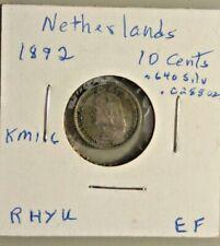 1892 Netherlands 10 cents  nice tone XF KM116