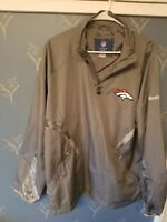 NFL Men's DENVER BRONCOS 1/4 Zip Reebok On-Field Zip Jacket Large L