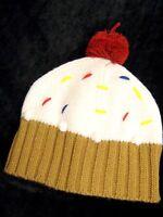 LA Gear Girls ladies warm Knitted iced cup cake pom pom beanie hat junior Adult