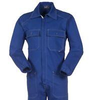 TUTA BLU ROYAL da Lavoro Robusto Cotone per Garage Officina Demolitore  aA40109