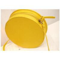Women Messenger Bags Lemon Shape Small Mini Bag Circular Crossbody Bag For L3T1