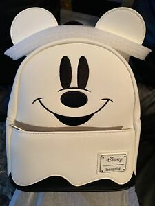 LOUNGEFLY Disney Mickey Mouse Ghost GLOW-IN-THE-DARK Backpack NEW! with Tags