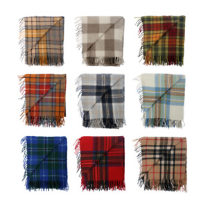 New BNWT Scottish Throw Large Wool Tartan Rug - Range of Tartans / Colours