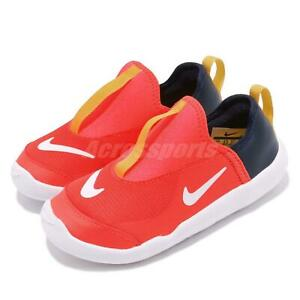 Nike Lil Swoosh TD Bright Crimson Toddler Infant Slip On Shoe Sneaker AQ3113-600