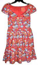 MODCLOTH Women's Fa La La Lovely Holiday Dessert Red Dress (Size M/Medium) >NEW<