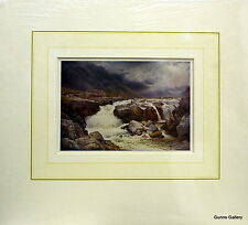 Vintage Print Sutton Palmer mounted to frame River Orel Perthshire Scotland