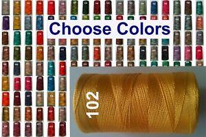 1 Embroidery Machine Thread Spool Rayon Viscose Silk 150+ Clr.1 Flat / Free Pstg