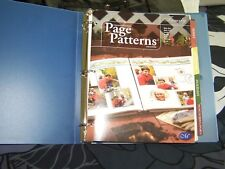 Creative Memories Page Patterns Organizer with 5 editions of Page Patterns