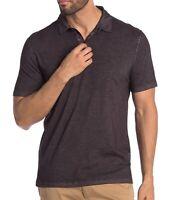 John Varvatos Star USA Men's Short Sleeve Polo Shirt Garment Washed Black