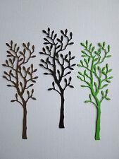 Tree Paper Die Cuts x 8 Scrapbooking Card Topper Embellishment