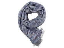 ESPRIT Damen Schal im gestreiften Muster blau NEU