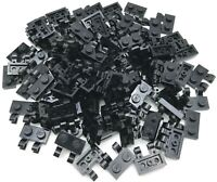 LEGO LOT OF BLACK MODIFIED PLATES 1 X 2 DOT WITH CLIPS PIECES