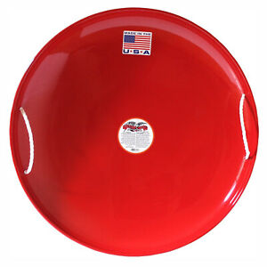 Flexible Flyer Paricon-3 Heavy Gauge Steel Metal Snow Disc Saucer Sled, Red