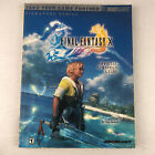 Final Fantasy X 10 Official Strategy Guide Brady Games Signature Series + Poster