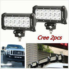 2pcs 7inch 36W CREE Led Work Light Bar Flood Beam SUV Offroad Driving Fog Lights