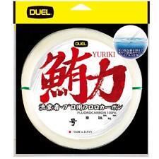 NEW Duel Yuriki 50m 40lb #12 Clear 0.570mm Fluorocarbon Big Game Tuna Line JPN