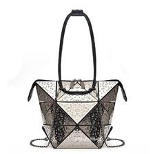 Women Girl's Summer Fashion Waterdrops Patterned Shape Changeable Shoulder Bags