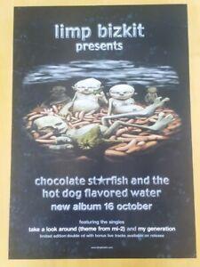Vintage Poster Limp Bizkit Chocolate Starfish Promo Album Nu Metal