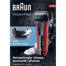 Braun WF2S Waterflex da Uomo Rasoio Elettrico senza Cavo Bagnato/Asciutto -