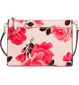 🌸 Kate Spade Cameron Street Roses Clarise Leather Flower Crossbody Bag NEW $248