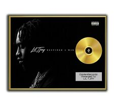 Lil Tjay Poster, Destined 2 Win GOLD/PLATINIUM CD, gerahmtes Poster HipHop Rap