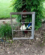 Vintage No Glass Farmhouse old wood window sash 6 pane picture frame NO Glass
