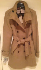 BURBERRY BRIT - Women DAYLESMOORE WOOL BLEND TRENCH COAT - CAMEL - SIZE 12 - NWT