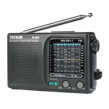 TECSUN R-909 Portable AM FM SW Radio Shortwave Pocket Radio Player 9 Bands Black