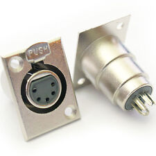 XLR 5 Pin/Pole Female Solder Connector - Chassis/Patch Panel Mount Module Socket