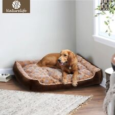 Warm Corduroy Dog Bed Waterproof Washable Soft Sofa Kennel Pet FREE SHIPPING