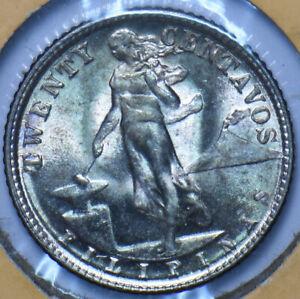 Philippines 1945 D 20 Centavos Eagle animal BU 294940 combine