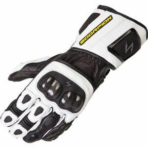 Scorpion EXO SG3 MK II Leather Motorcycle Glove - White/Black, All Sizes