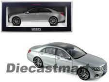Norev 1:18 2018 Mercedes-Benz S-Class AMG Diecast Model Car 183479 Silver New