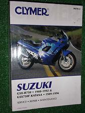 SUZUKI GSX-R750 GSX750F KATANA CLYMER SERVICE REPAIR MANUAL 1988-1996