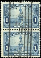 Used Canada $1.00 F+ PAIR 1935 Scott #227 King George V Pictorial Stamps