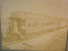 1908 NORTHWESTERN PASSENGER TRAIN CAR ANTIQUE TRAIN PHOTO