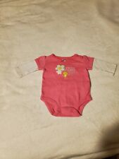 Carter's Baby Girl 3 Month One Piece Pink Longsleeve Playsuit