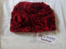 Chapeau Angora Femme LILI&POPPY rouge et noir Taille unique neuf avec étiquette