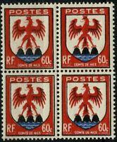 FRANCE 1946 Bloc de 4   YT n° 758 Neuf ★★ luxe / MNH