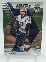 "Tom Brady #298 MVP patriots legend  - MVP Card 2020 Panini MOSAIC ""GOAT"""