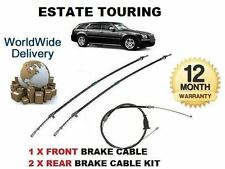 FOR CHRYSLER 300C TOURING ESTATE 2005-> NEW 1x FRONT + 2x REAR HAND BRAKE CABLE